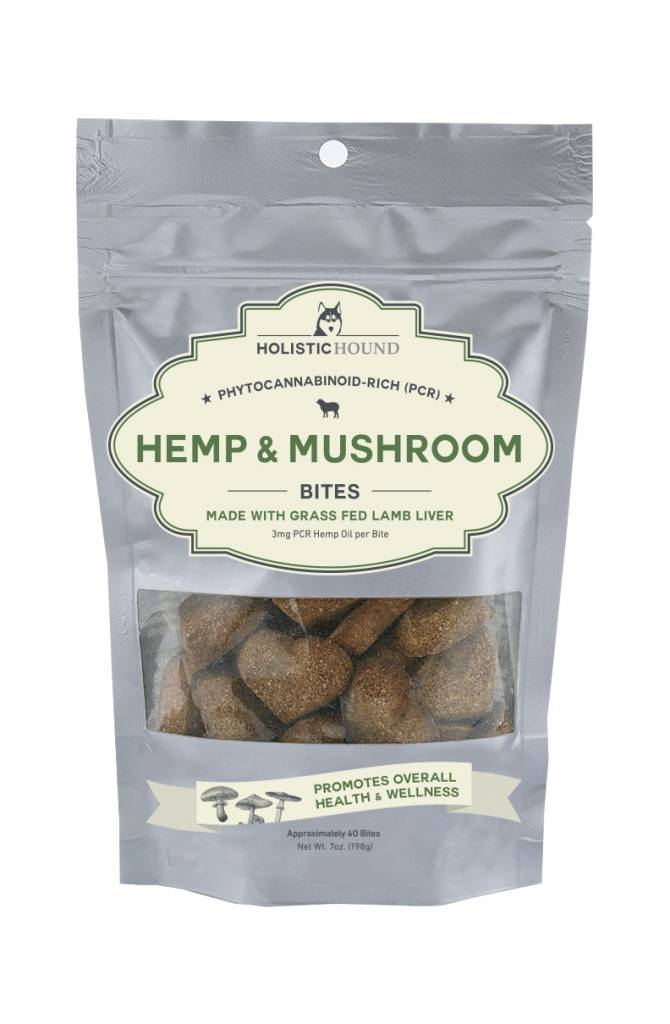 Holistic Hound Holistic Hound Hemp & Mushroom Lamb Bites CBD Supplement 3mg