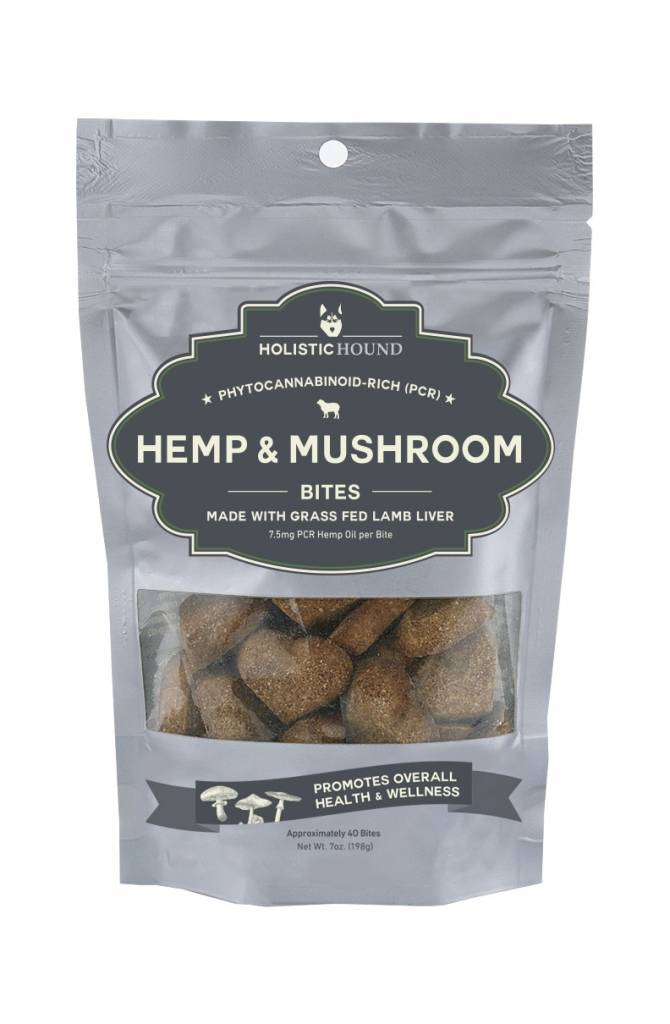 Holistic Hound Holistic Hound Hemp & Mushroom Lamb Bites CBD Supplement 7.5mg