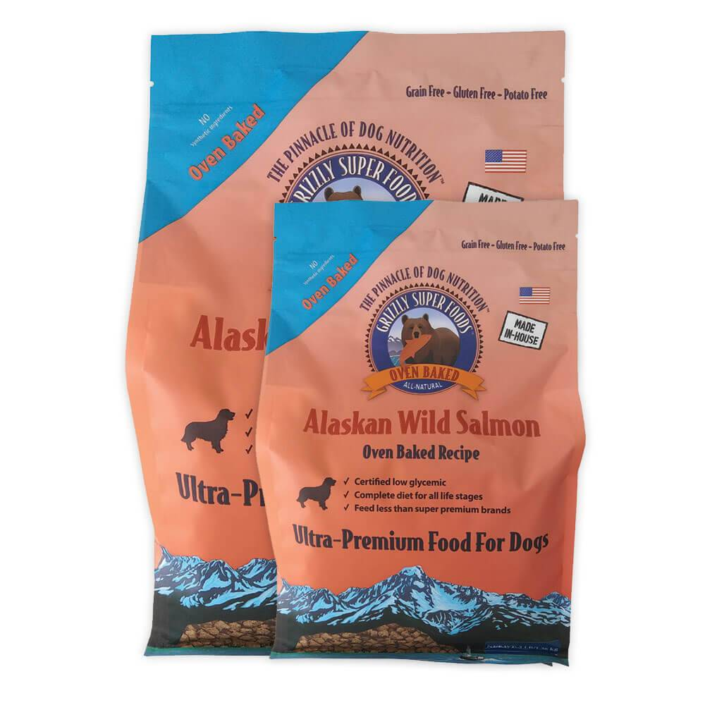 Grizzly Grizzly Super Foods Oven Baked Alaskan Wild Salmon Dry Dog Food