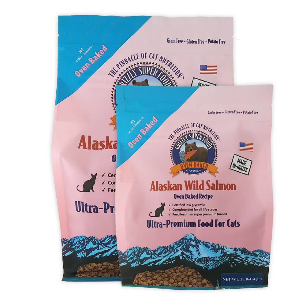 Grizzly Grizzly Super Foods Oven Baked Alaskan Wild Salmon Dry Cat Food 1#