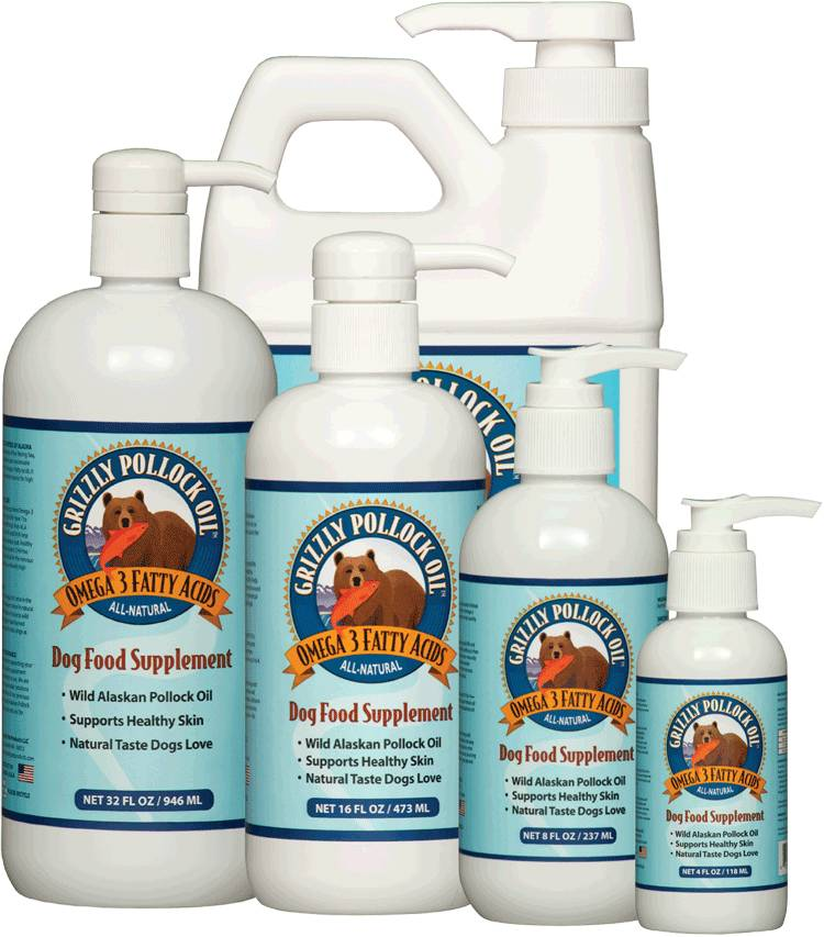 Grizzly Grizzly Pollock Oil Dog Supplement