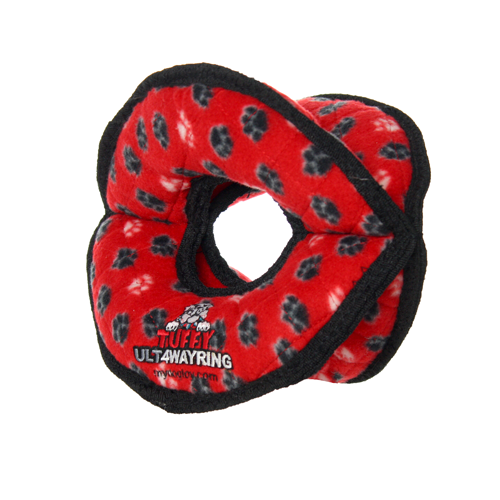 VIP Products VIP Tuffy Ultimate 4 Way Ring Red Dog Toy