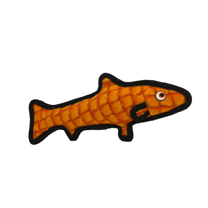 VIP Products VIP Tuffy Ocean Trout Orange Dog Toy