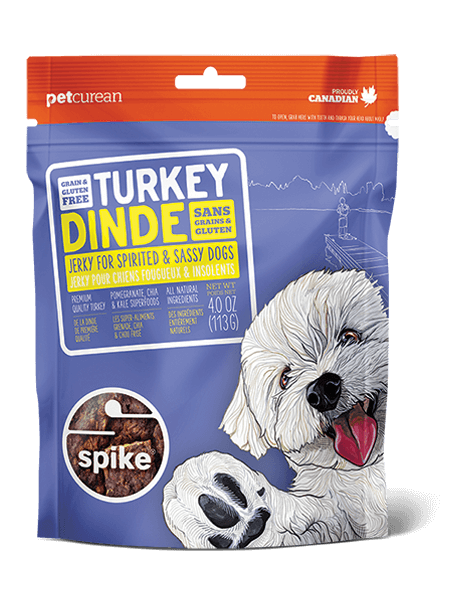 Petcurean Spike Turkey Jerky Dog Treats 4oz