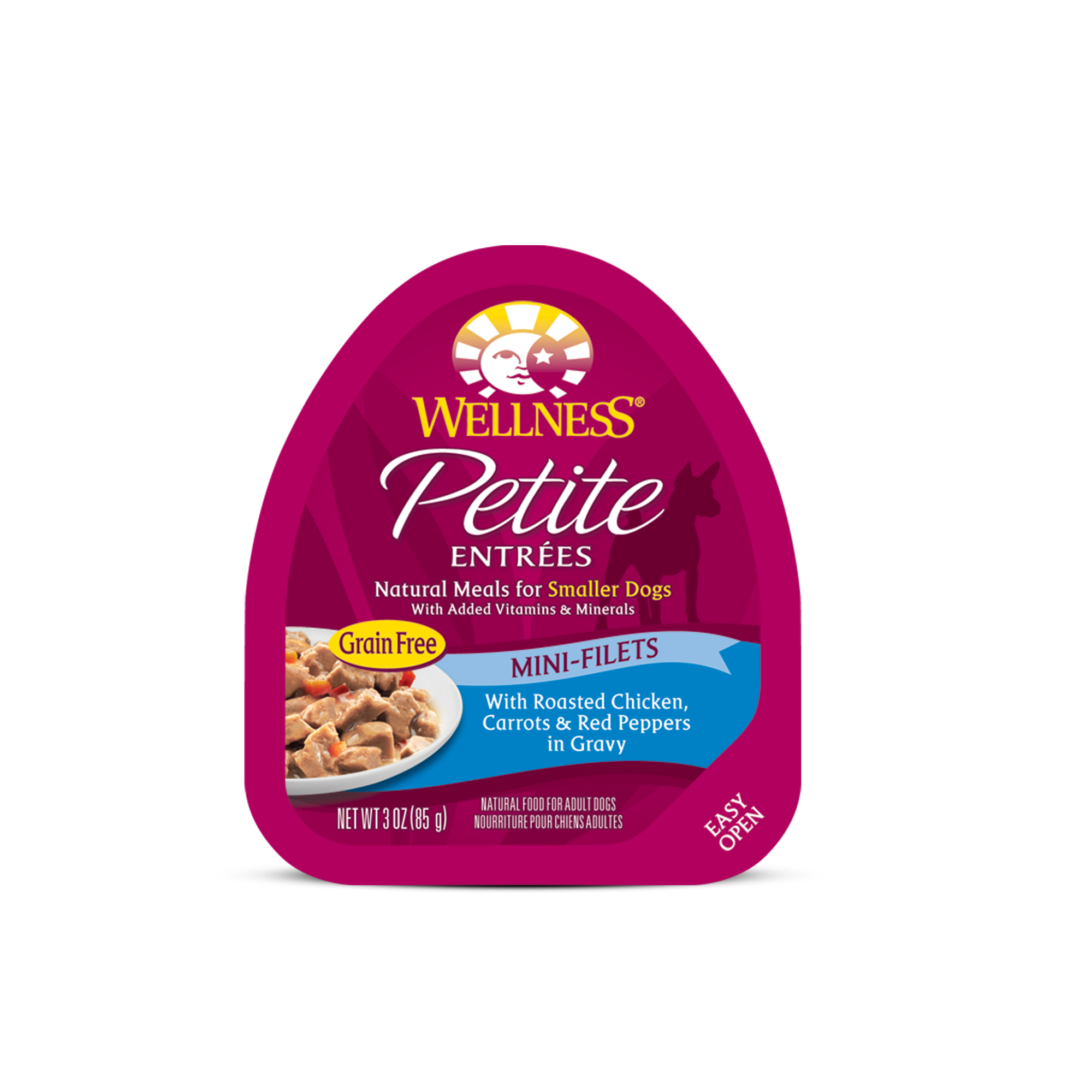 Wellness Wellness Petite Entrees Mini-Filets Roasted Chicken, Carrots & Red Peppers Wet Dog Food 3oz