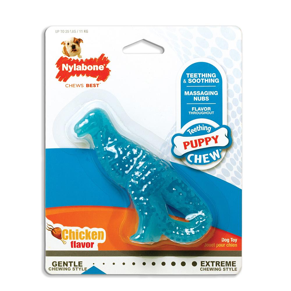 Nylabone Nylabone Puppy Chew Dental Dinosaur Dog Toy