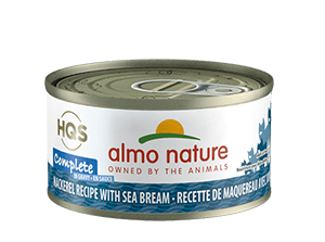 Almo Nature Almo Nature HQS Complete Mackerel with Sea Bream in Gravy Wet Cat Food 2.47oz
