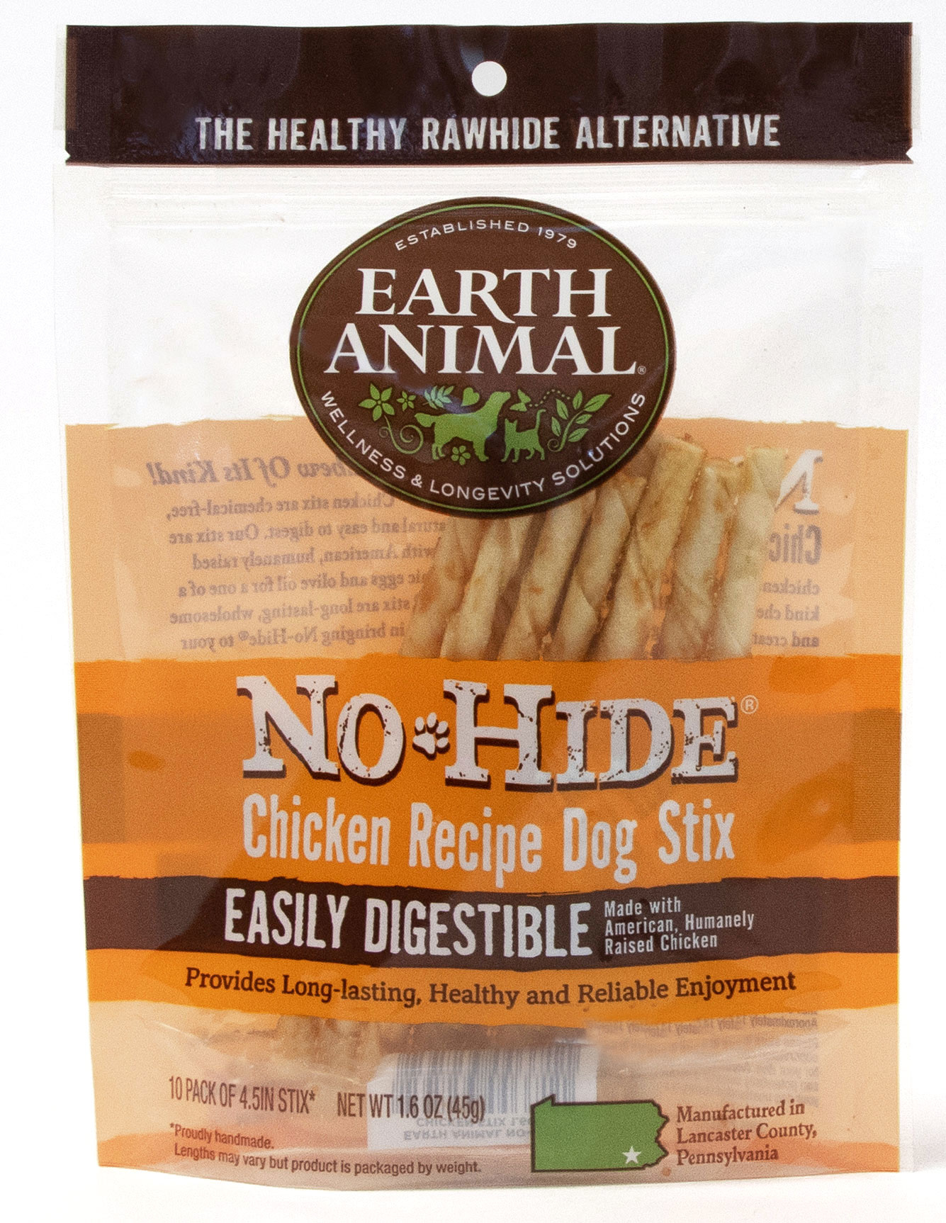 Earth Animal Earth Animal No Hide Chicken Stix Dog Chew