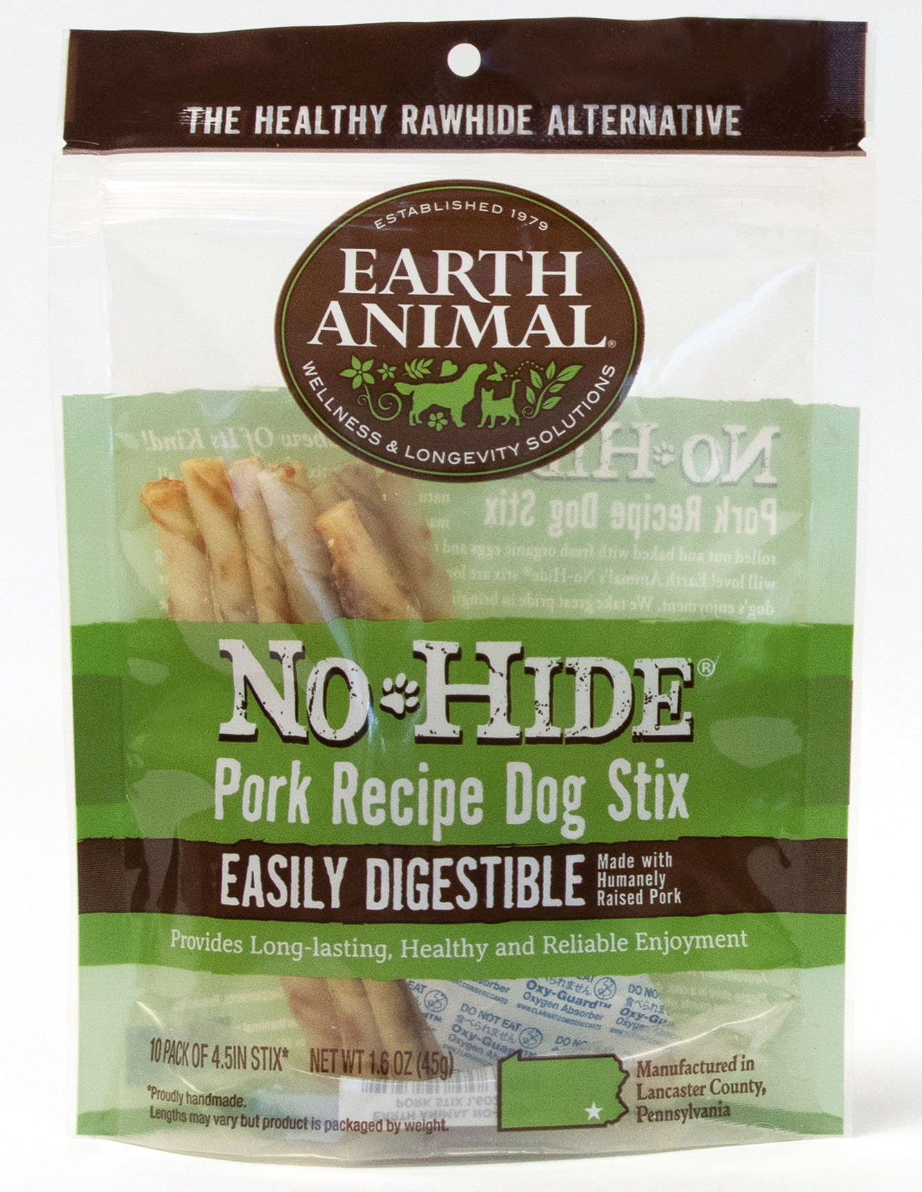Earth Animal Earth Animal No Hide Pork Stix Dog Chew