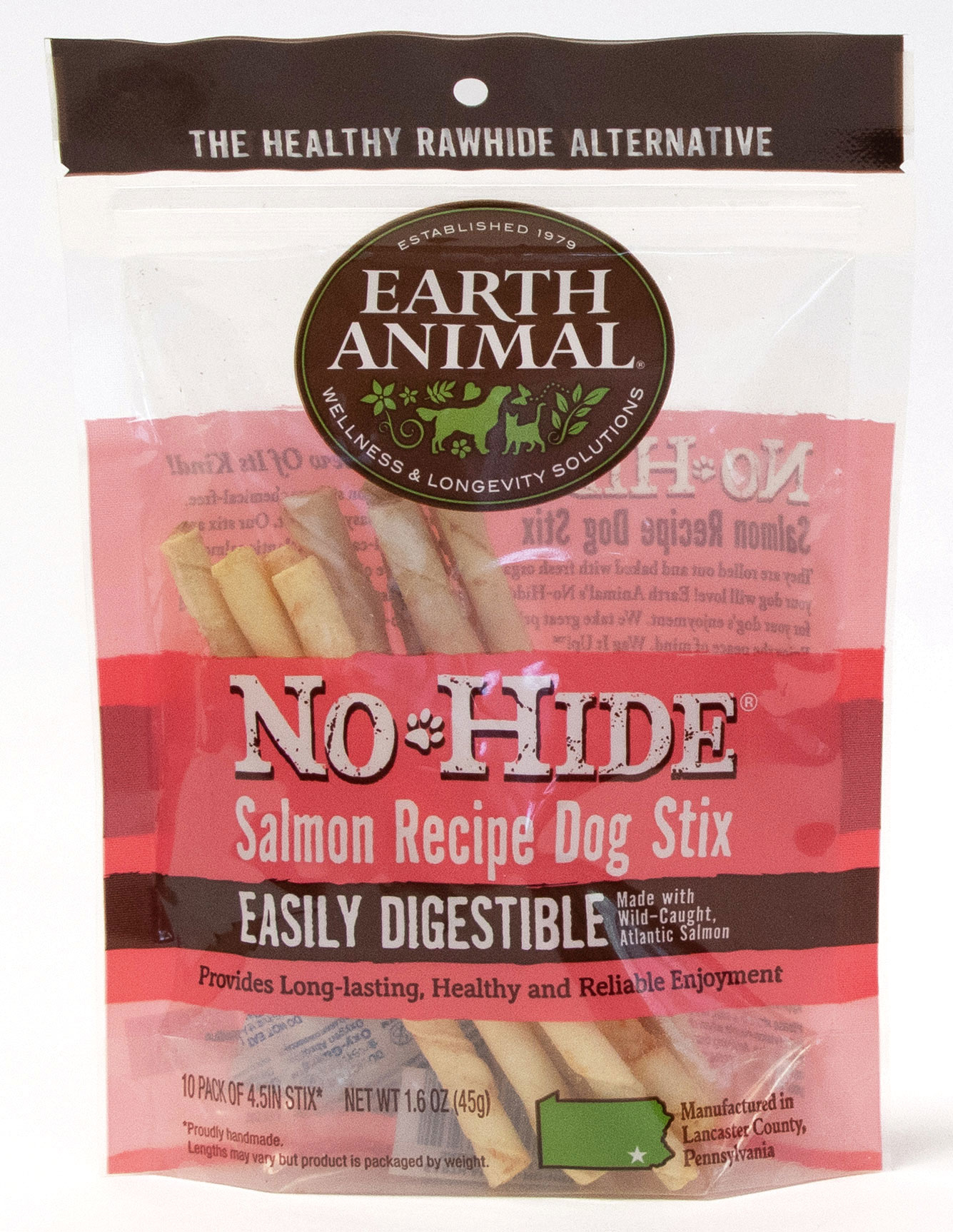 Earth Animal Earth Animal No Hide Salmon Stix Dog Chew