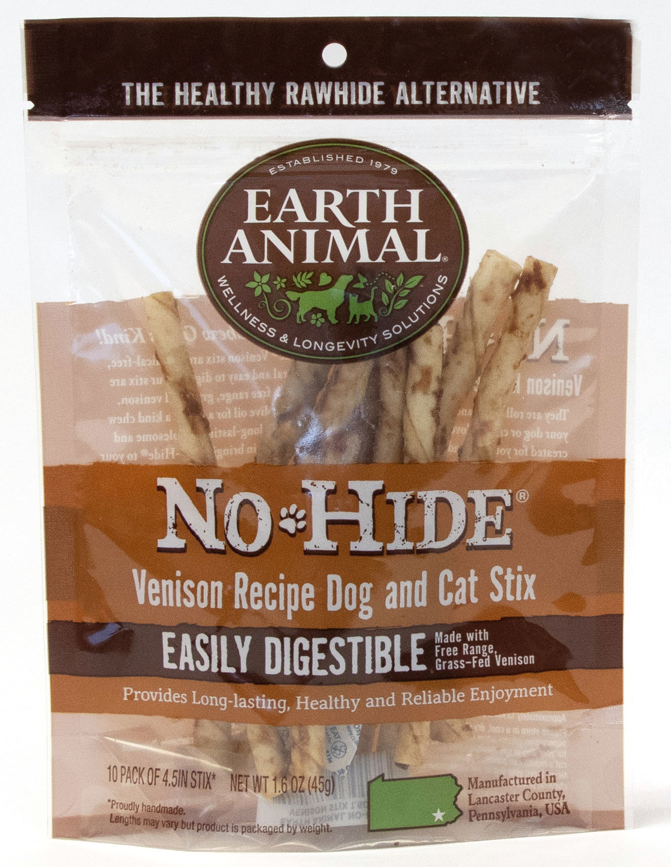 Earth Animal Earth Animal No Hide Venison Stix Dog Chew
