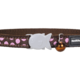 Red Dingo Designs Cat Collar Pink Spots Brown