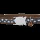 Red Dingo Designs Cat Collar Blue Spots Brown