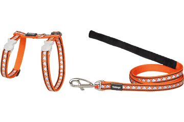 Red Dingo Red Dingo Reflective Cat Harness & Lead Orange Fish