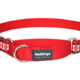 Red Dingo Reflective Martingale Dog Collar Bones Red