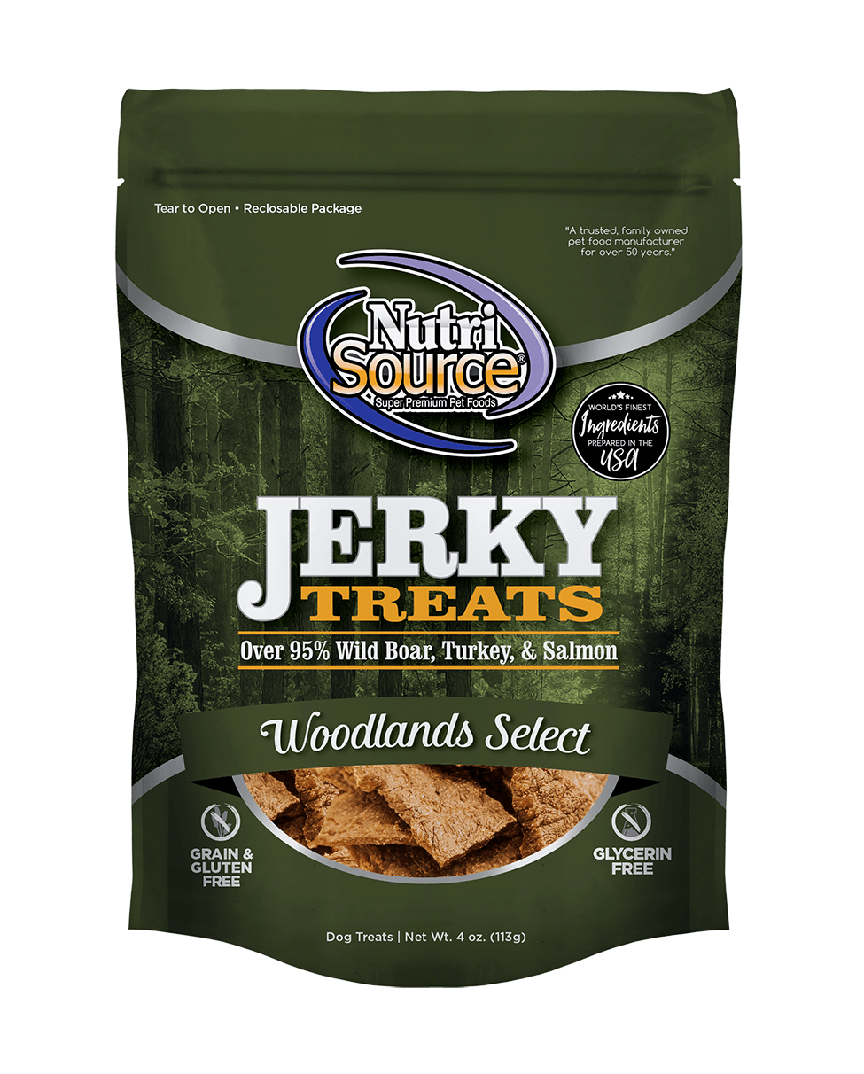NutriSource NutriSource Woodlands Select Jerky Dog Treat 4oz