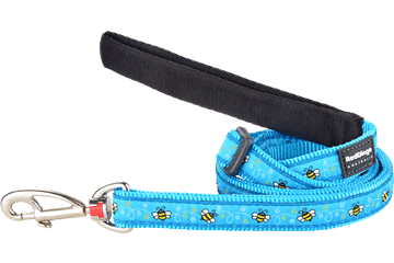 Red Dingo Red Dingo Designs Adjustable Dog Lead Bumble Bee Turquoise 12mm