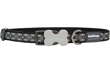 Red Dingo Designs Dog Collar Snake Eyes Black