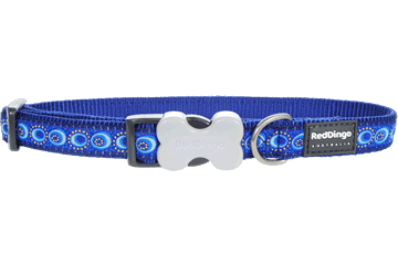 Red Dingo Red Dingo Designs Dog Collar Cosmos Dark Blue
