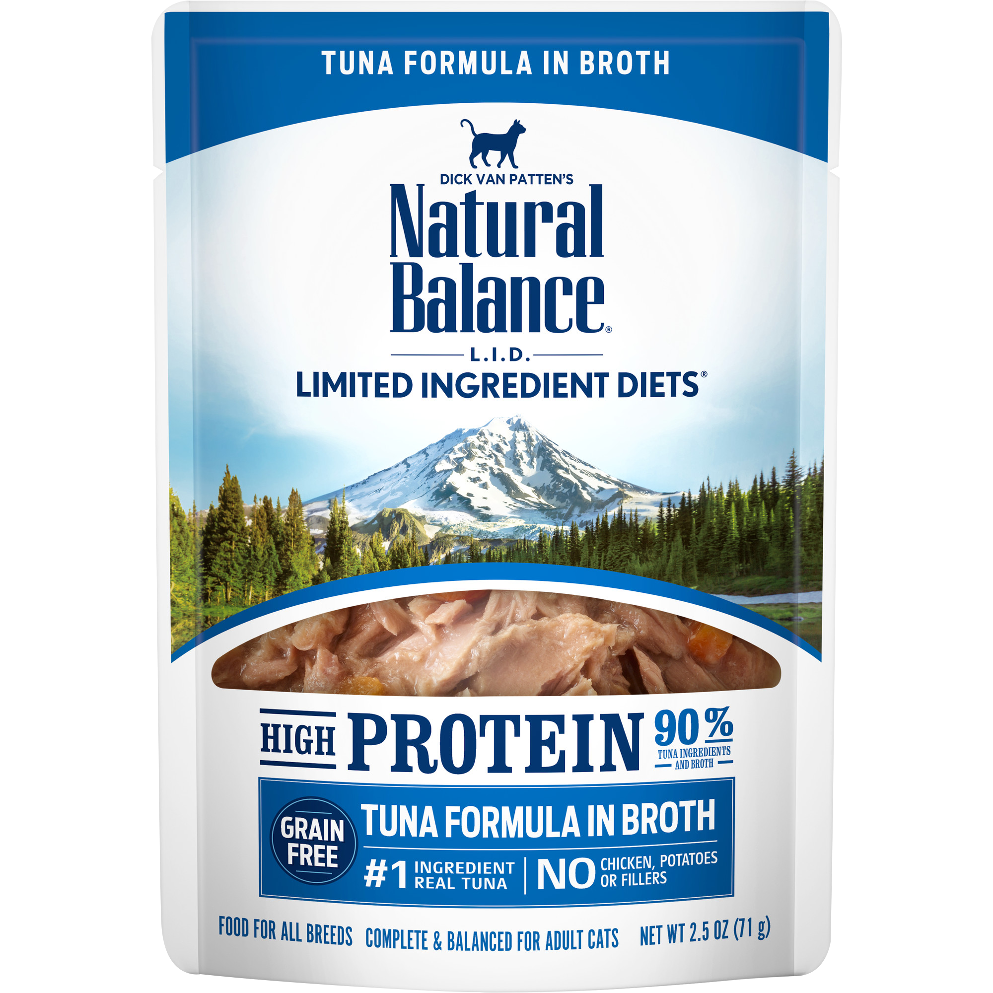 Natural Balance Natural Balance Limited Ingredient Diet High Protein Tuna Wet Cat Food Pouch 2.5oz
