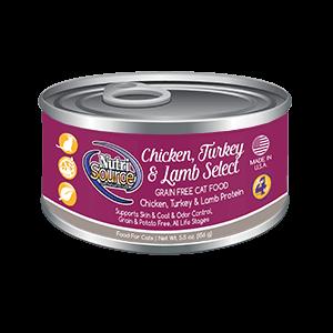 NutriSource NutriSource Grain Free Chicken, Turkey, & Lamb Select Wet Cat Food 5.5oz