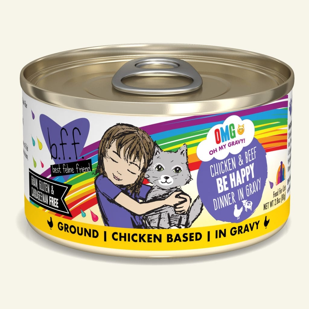 Weruva Weruva BFF OMG Chicken & Beef Be Happy Wet Cat Food 5.5oz