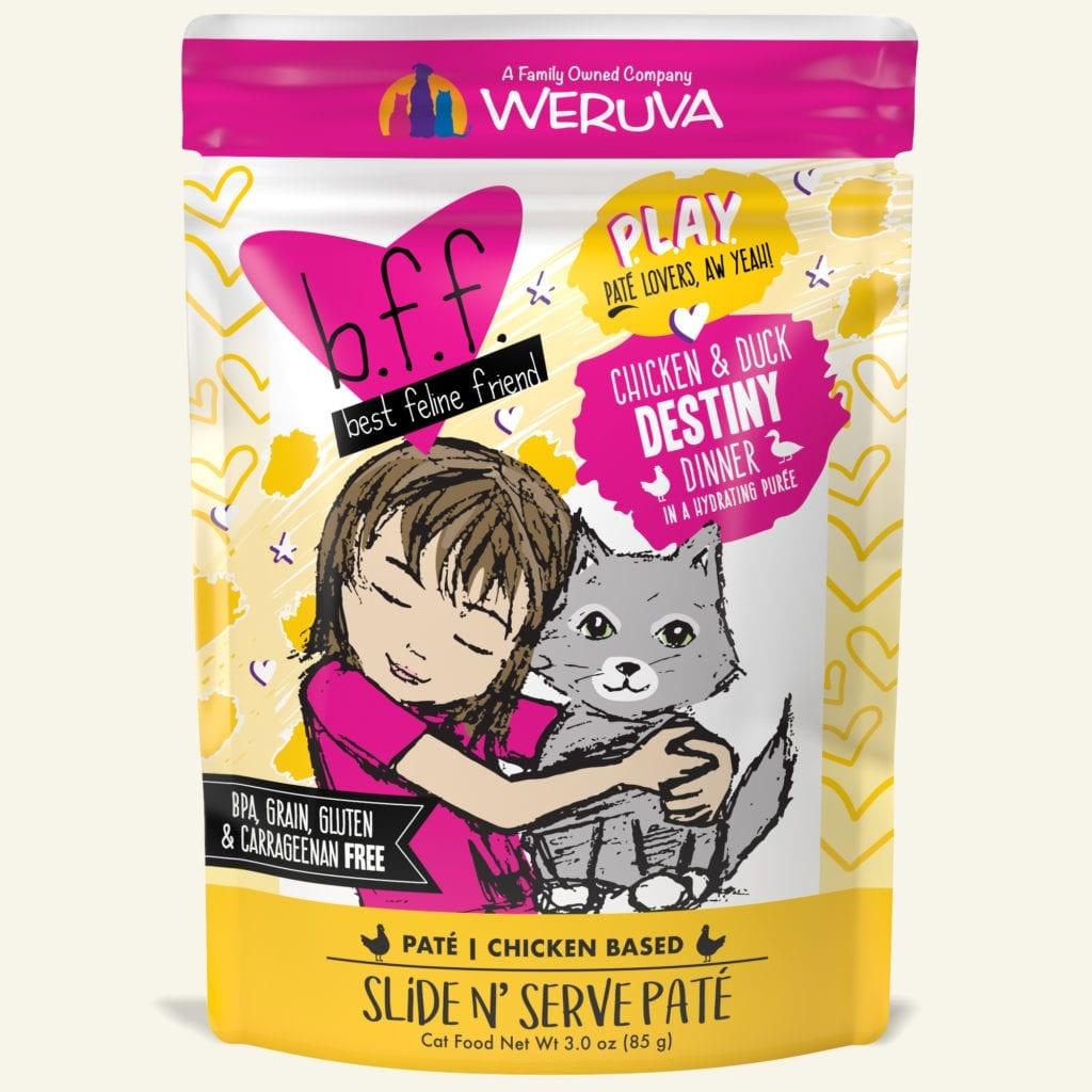 Weruva Weruva BFF PLAY Chicken & Duck Destiny Wet Cat Food Pouch 3oz