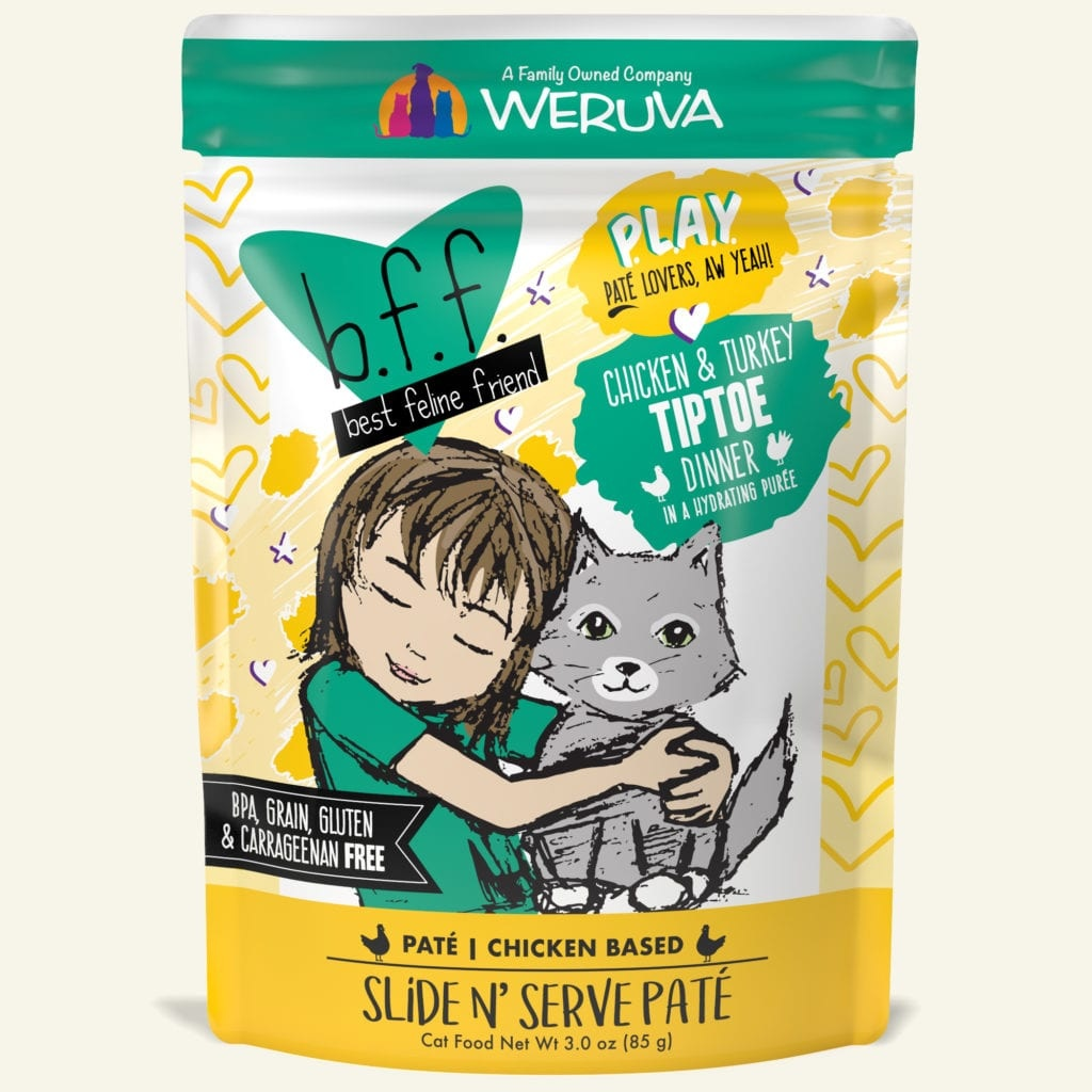 Weruva Weruva BFF PLAY Chicken & Turkey Tiptoe Wet Cat Food Pouch 3oz