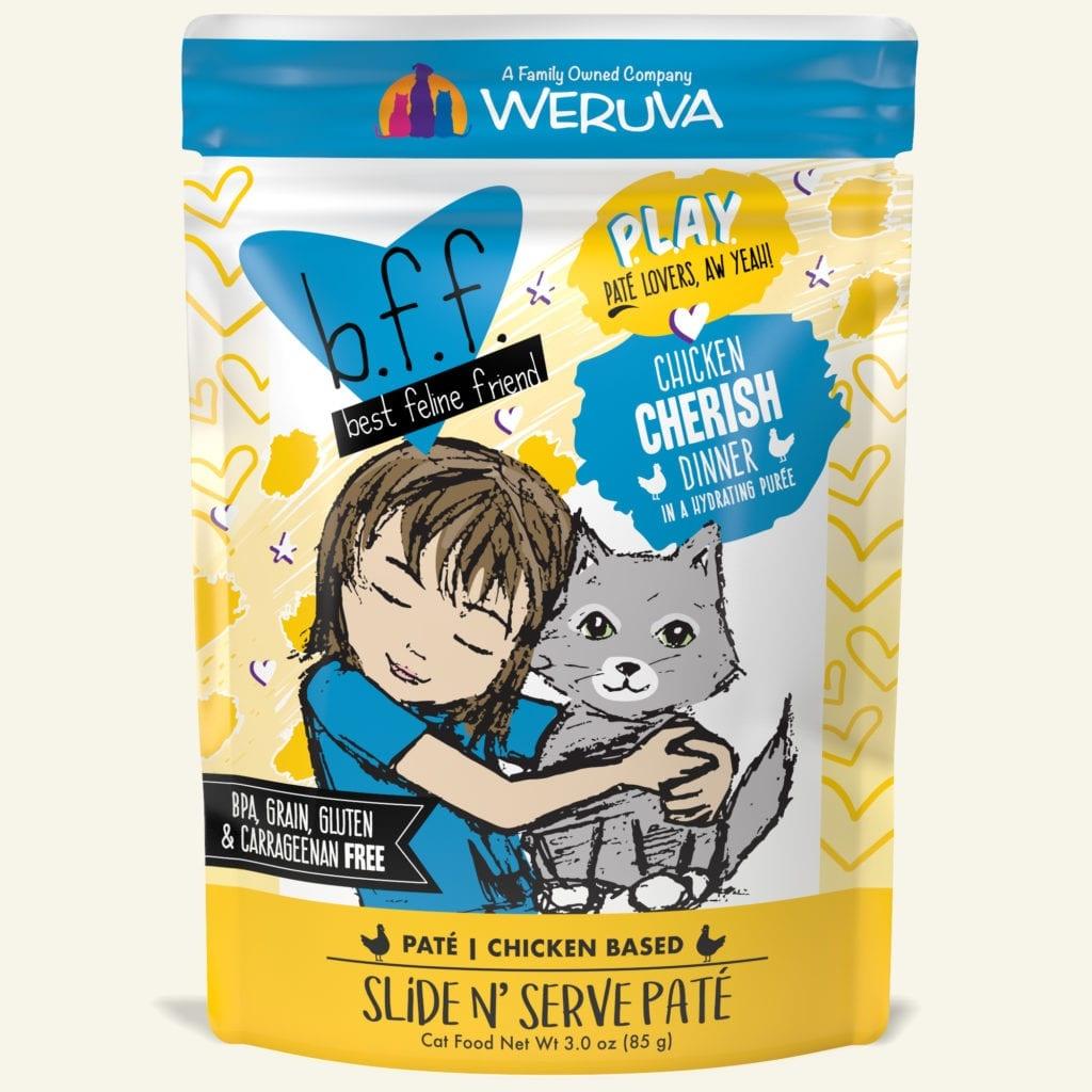 Weruva Weruva BFF PLAY Chicken Cherish Wet Cat Food Pouch 3oz