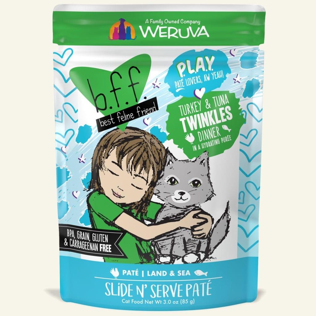 Weruva Weruva BFF PLAY Turkey & Tuna Twinkles Wet Cat Food Pouch 3oz