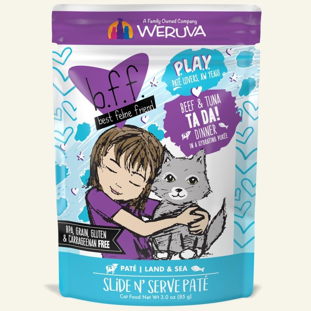 Weruva Weruva BFF PLAY Beef & Tuna Ta Da! Wet Cat Food Pouch 3oz