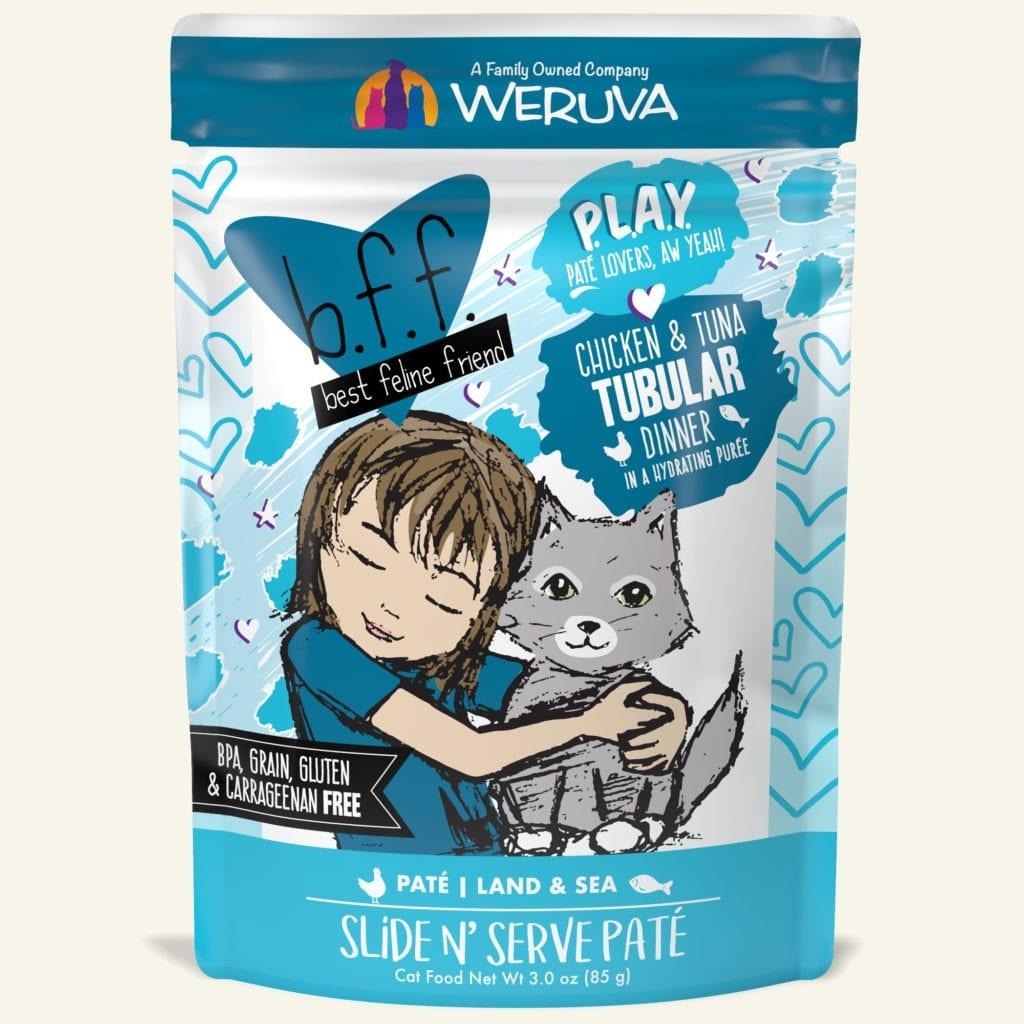 Weruva Weruva BFF PLAY Chicken & Tuna Tubular Wet Cat Food Pouch 3oz