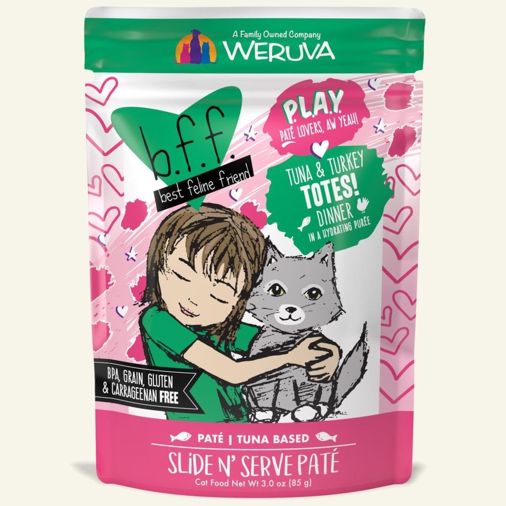 Weruva Weruva BFF PLAY Tuna & Turkey Totes! Wet Cat Food Pouch 3oz