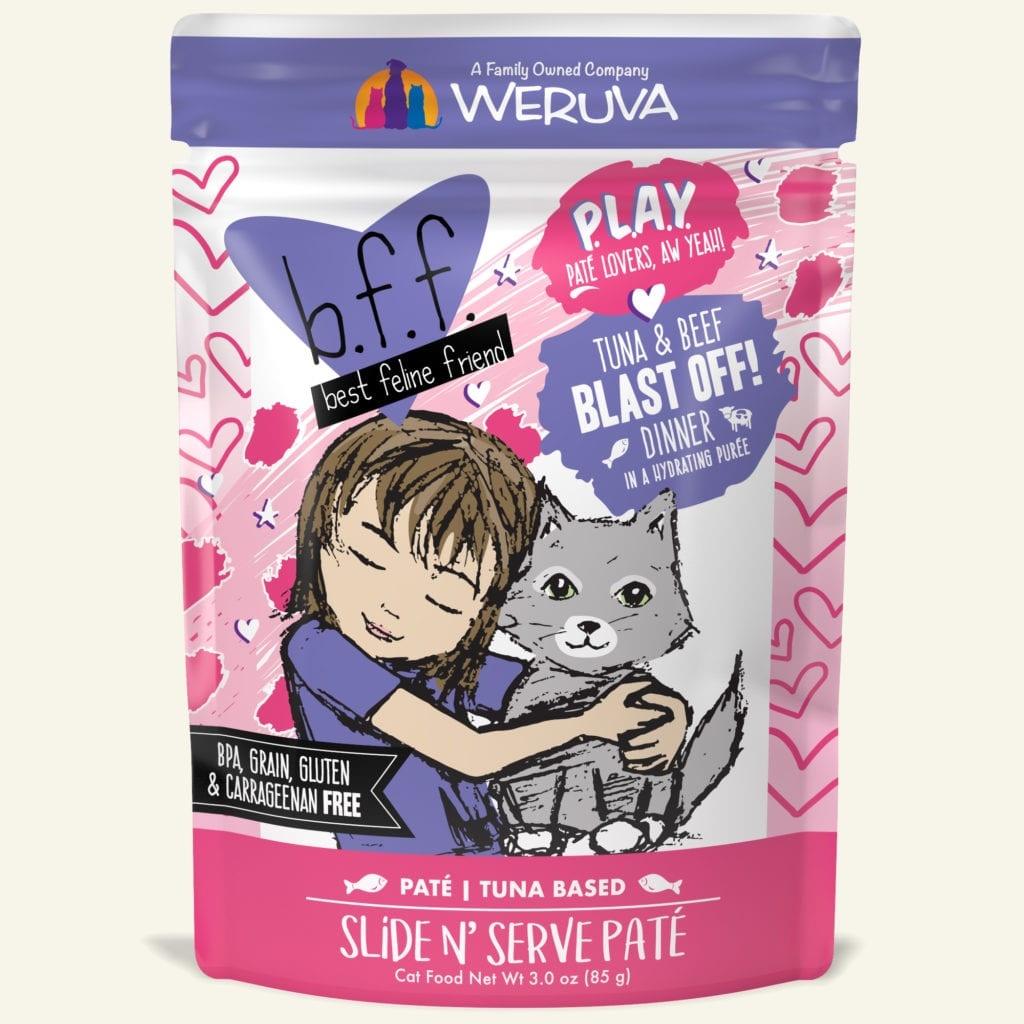 Weruva Weruva BFF PLAY Tuna & Beef Blast Off! Wet Cat Food Pouch 3oz
