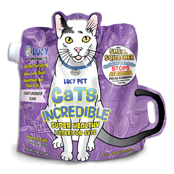 lucy pet cats incredible lavender scented clumping cat litter everett wa monroe wa sam 39 s. Black Bedroom Furniture Sets. Home Design Ideas