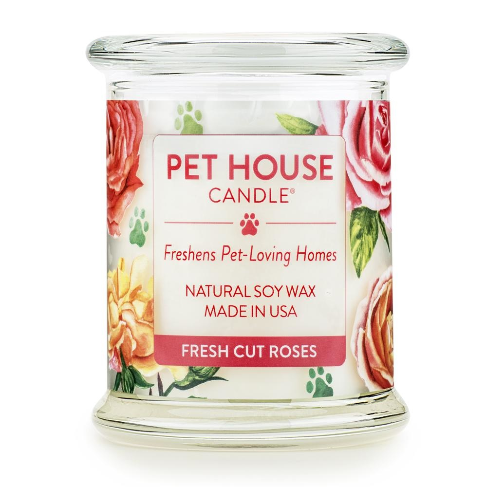 One Fur All One Fur All Pet House Candle Fresh Cut Roses