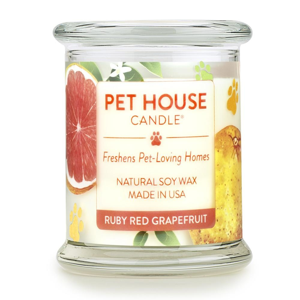 One Fur All One Fur All Pet House Candle Ruby Red Grapefruit