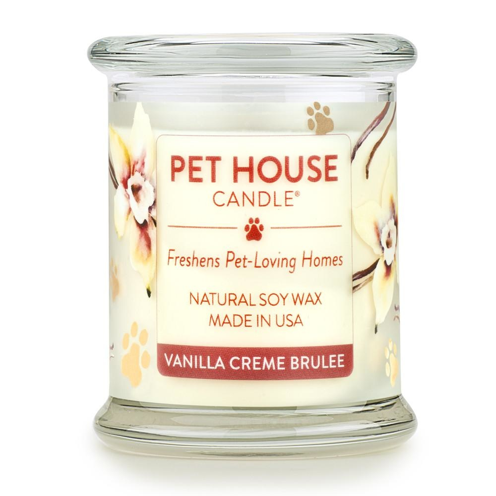 One Fur All One Fur All Pet House Candle Vanilla Creme Brulee