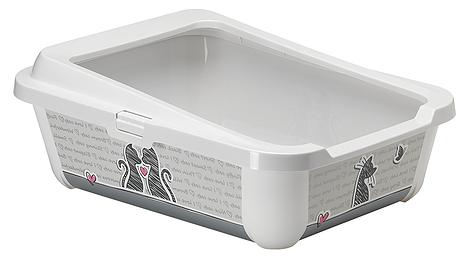 Moderna Cats in Love Hercules Litter Box with Rim