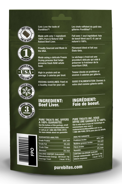 Pure Bites PureBites Freeze Dried Beef Liver Cat Treats 0.85oz