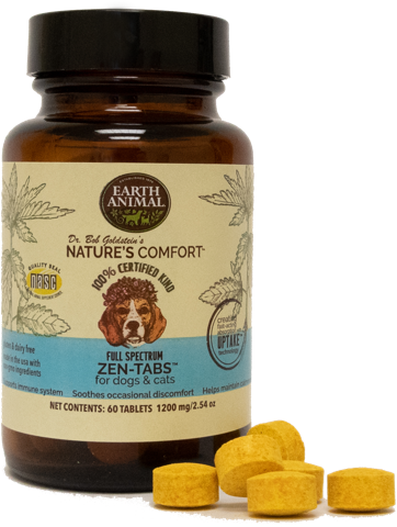 Earth Animal Earth Animal Nature's Comfort Zen-Tabs CBD Supplement 60ct
