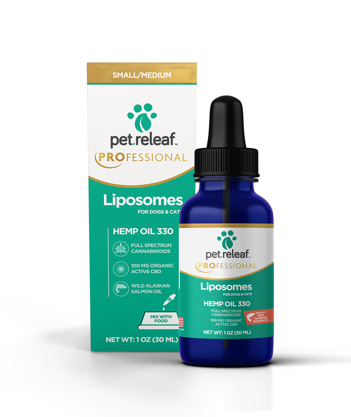 Pet Releaf Pet Releaf Hemp Oil with Liposomes CBD Supplement 330 100mg 1oz