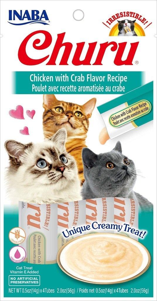Inaba Inaba Churu Purees Chicken with Crab Cat Treats 4ct