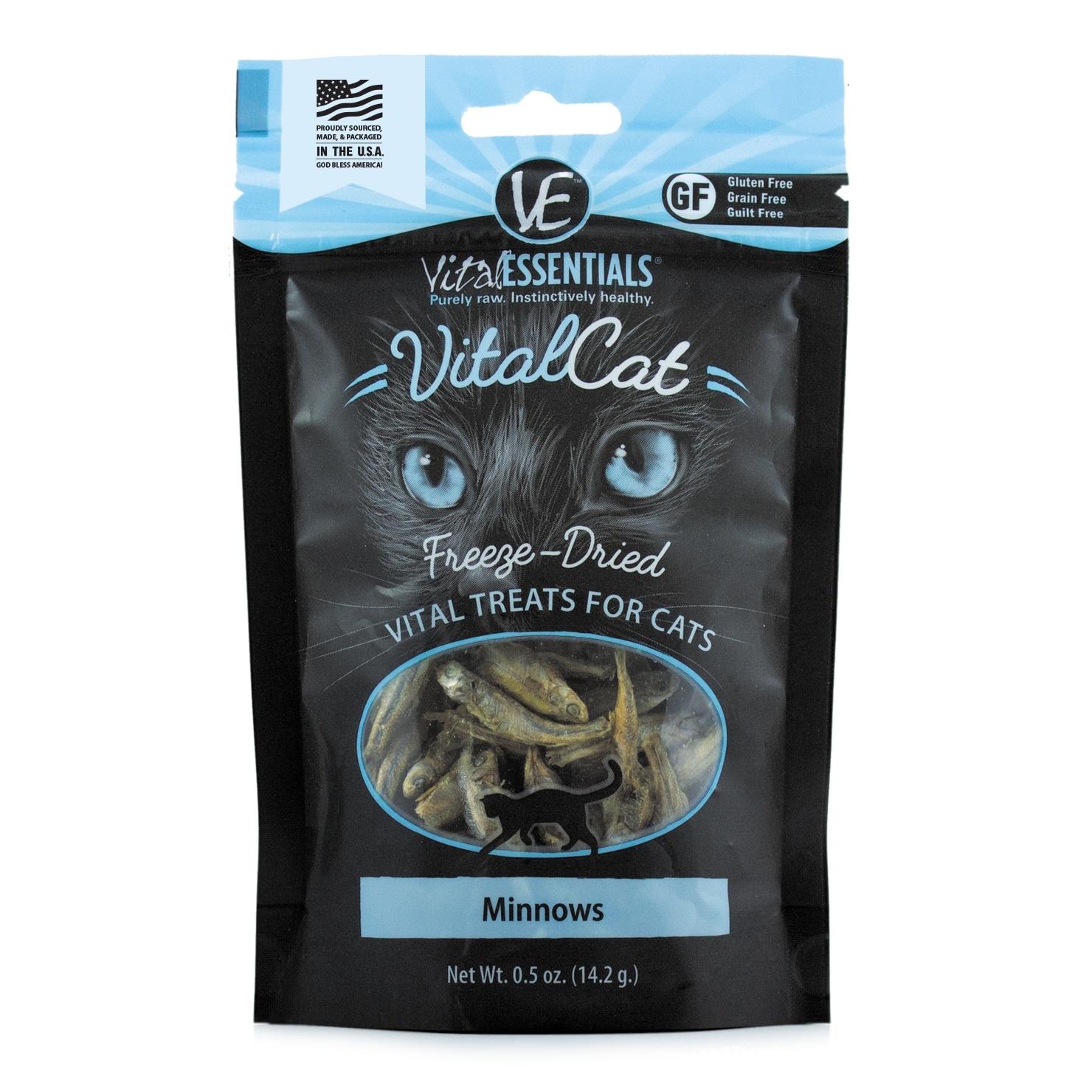 Vital Essentials Vital Essentials Freeze Dried Minnows Cat Treats 0.5oz