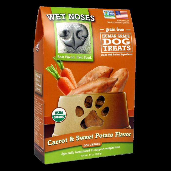 Wet Noses Wet Noses Organic Grain Free Carrot & Sweet Potato Dog Treats 14oz