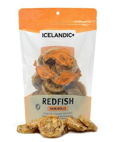 Icelandic+ Icelandic+ Red Fish Skin Rolls Dog Treats 3oz
