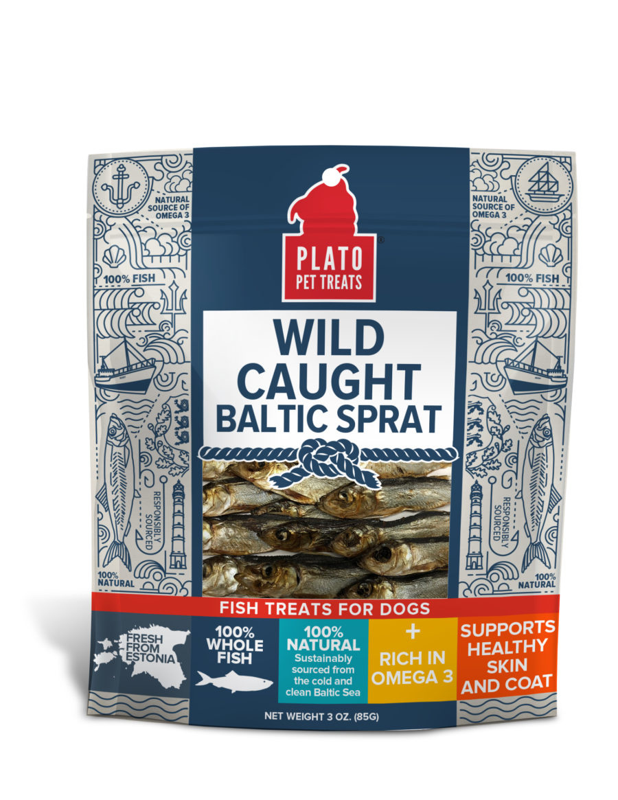 Plato Plato Wild Caught Baltic Sprat Dog Treat 3oz