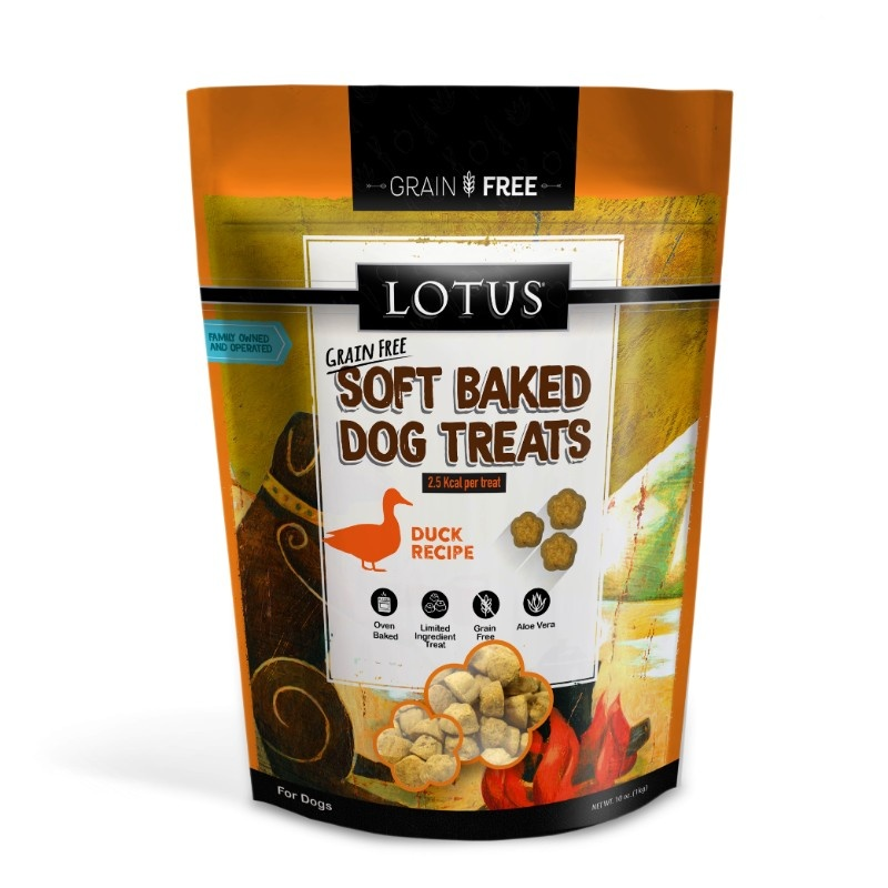 Lotus Lotus Grain Free Soft Baked Duck Dog Treats 10oz