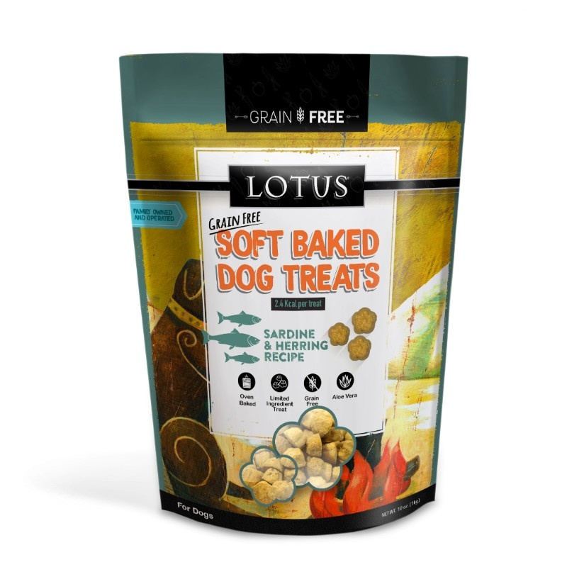 Lotus Lotus Grain Free Soft Baked Sardine & Herring Dog Treats 10oz