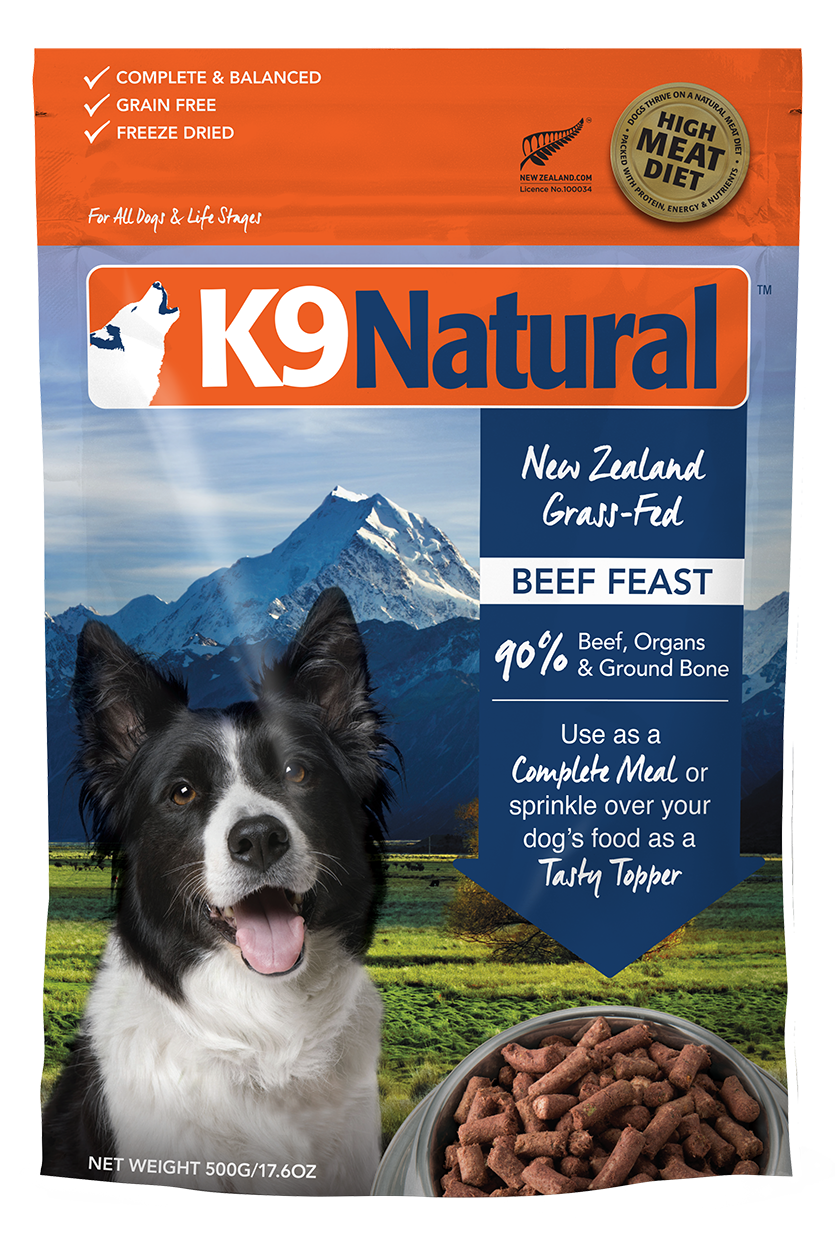 K9 Natural K9 Natural Freeze Dried Beef Feast Dog Food 17.6oz